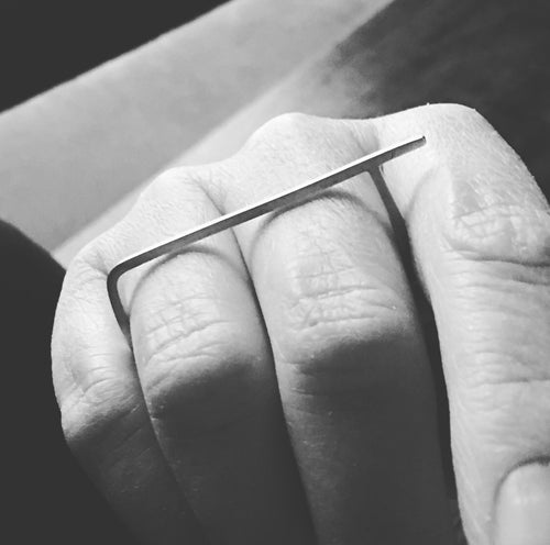 Rectangular Minimalist Double Finger Ring