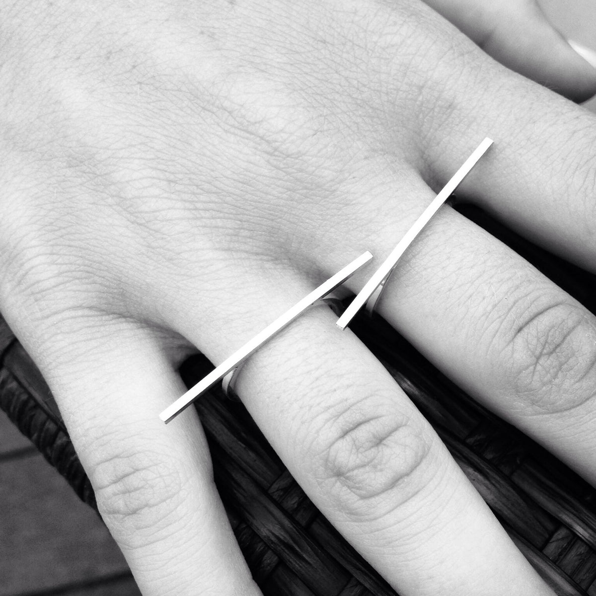 Bar Ring - Thin Rectangle