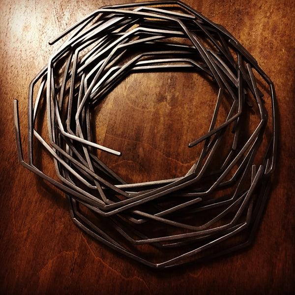 Geometric Collar Necklace in Sterling Silver