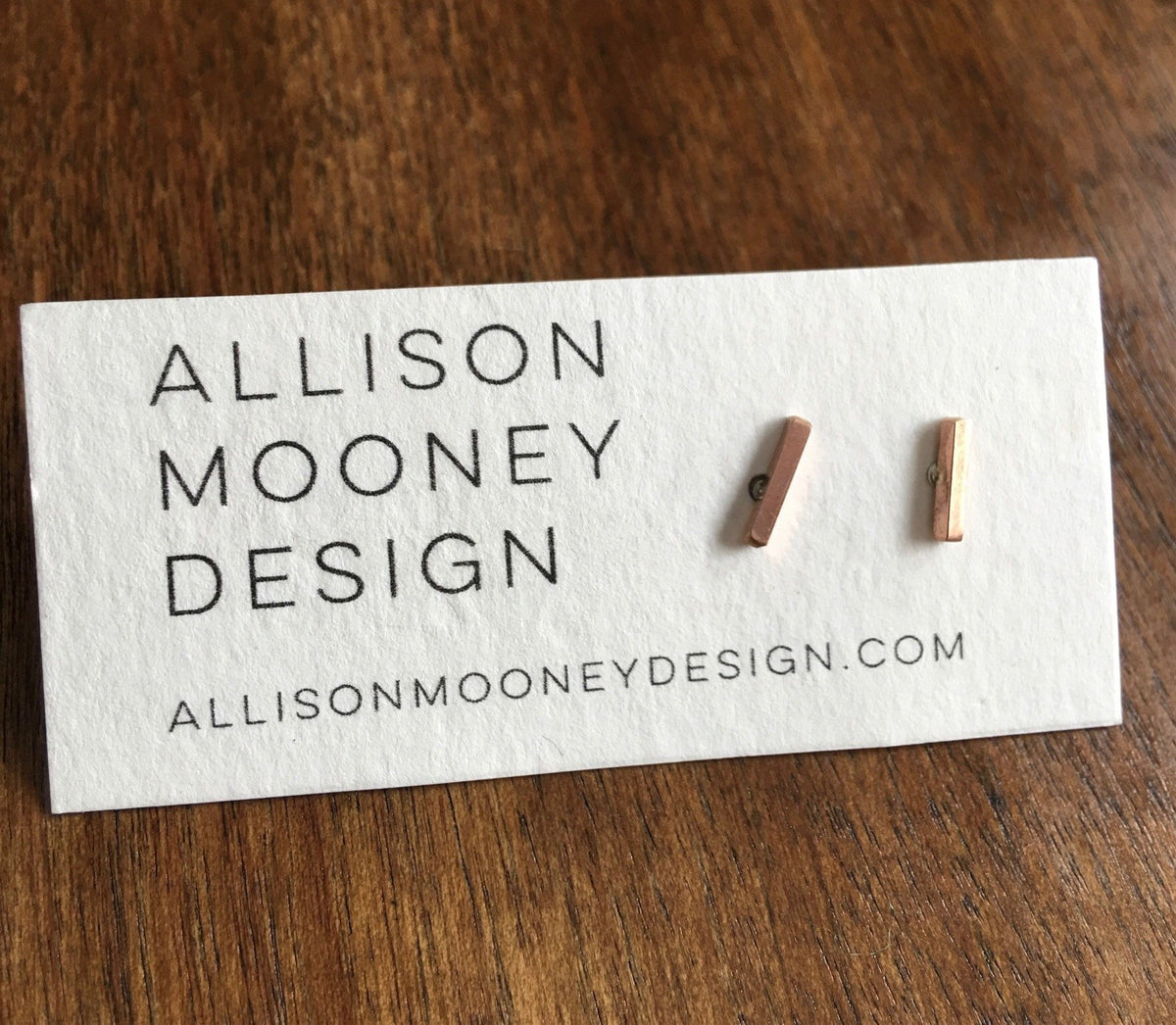 Line Post Earrings the n Gold Fill or Rose Gold Fill