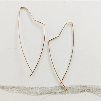 Asymmetrical Threader Earrings