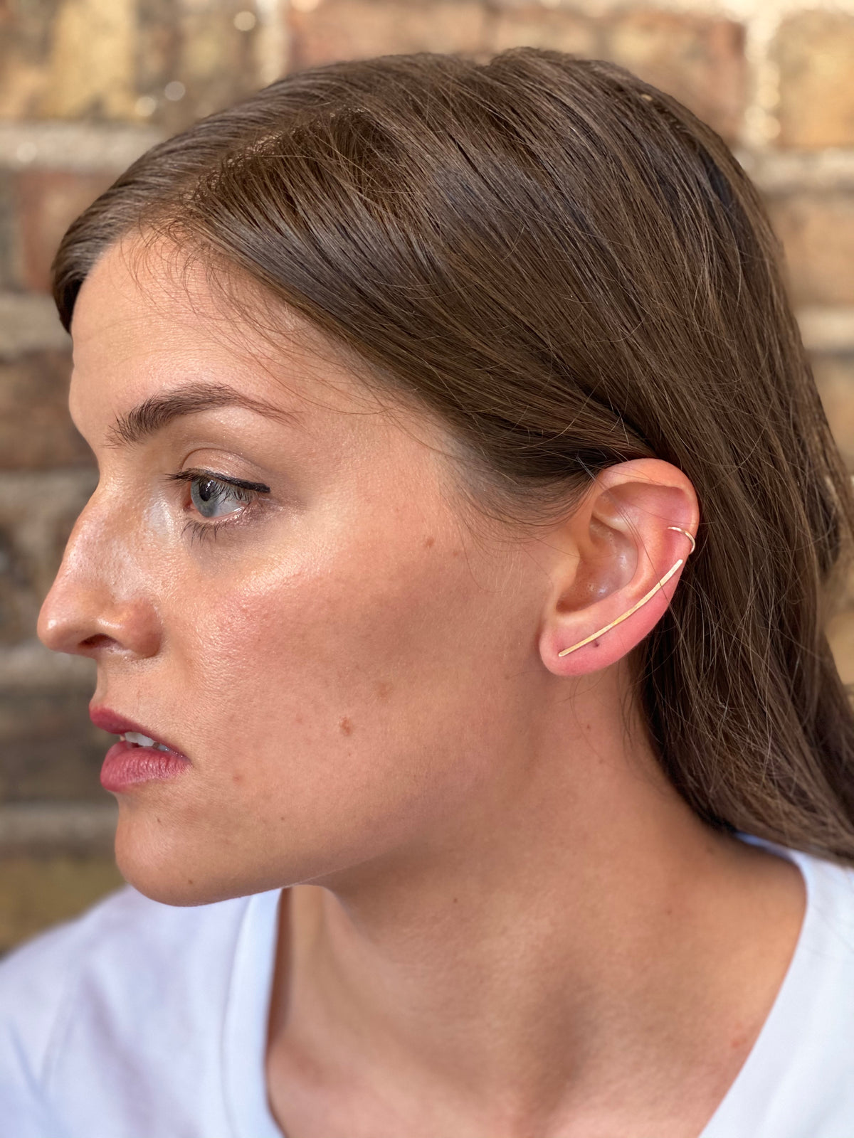 Long Hammered Ear Climbers - Sterling Silver, Gold Fill or Rose Gold Fill