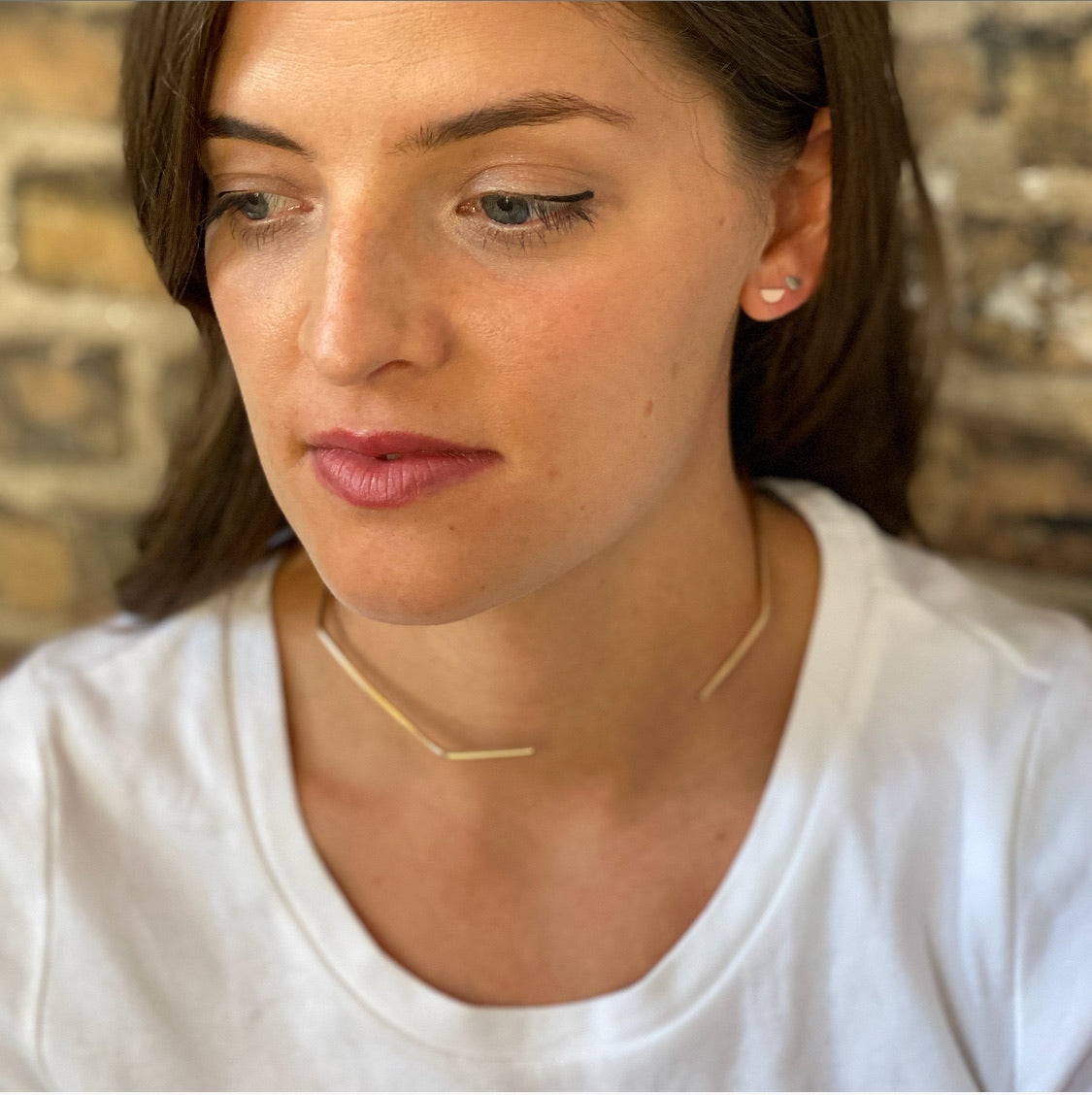 Geometric Collar Necklace in Gold Fill or Sterling Silver