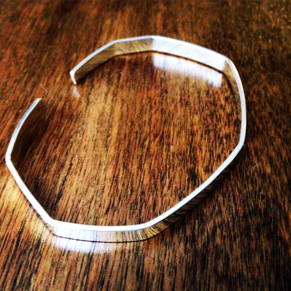 Faceted Cuff Bracelet