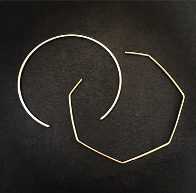 Collar Necklace - Squared Metal
