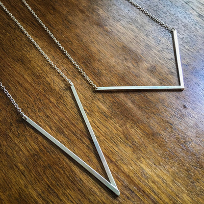 Point Necklace in Sterling Silver