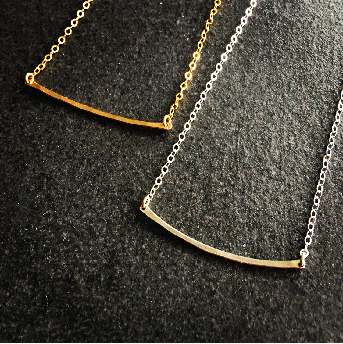 Bar Necklace - Squared Metal