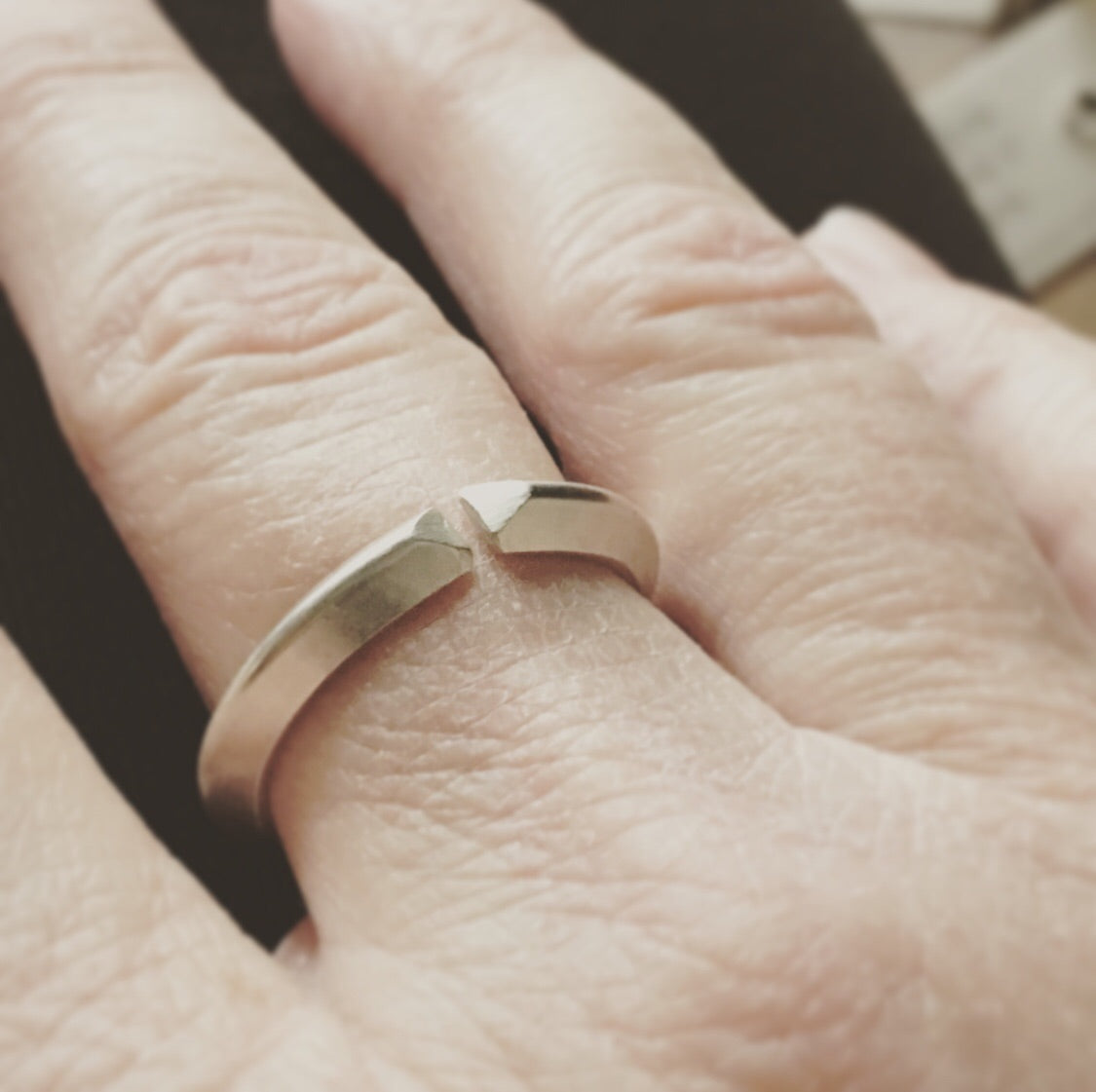 Open Band Ring - Triangular