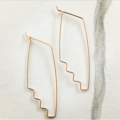 Stepped Threader Earrings