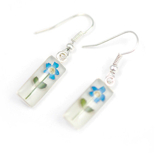 Forget-Me-Not Jewelry: Cylinder Hanging Earrings