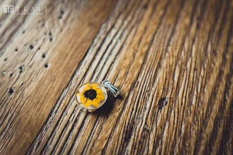 Sunflower Jewelry: Round Pendant