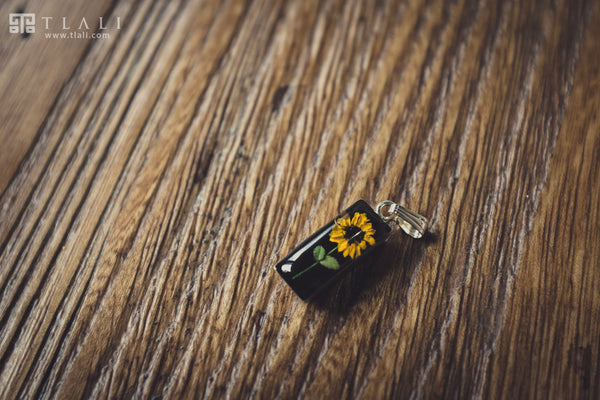 Sunflower Jewelry: Cylinder Pendant