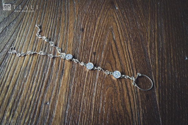 Forget-Me-Not Flower Chain Bracelet