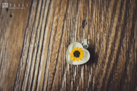 Sunflower Jewelry: Heart Pendant