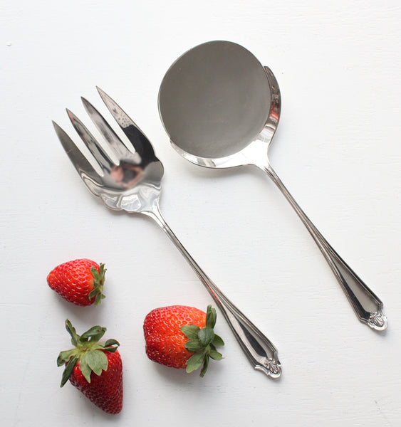 Antique Fork and Egg Spoon Set