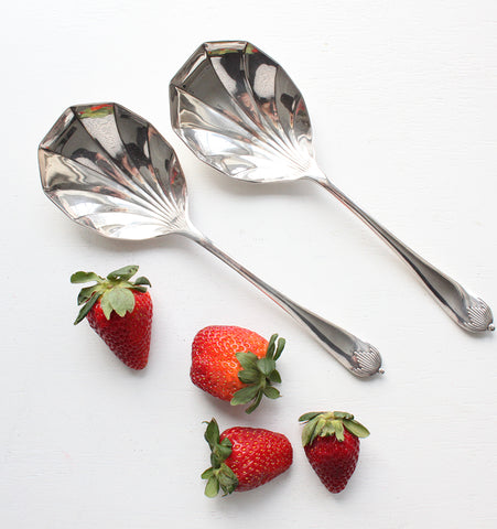 Antique Art Deco Serving Spoons