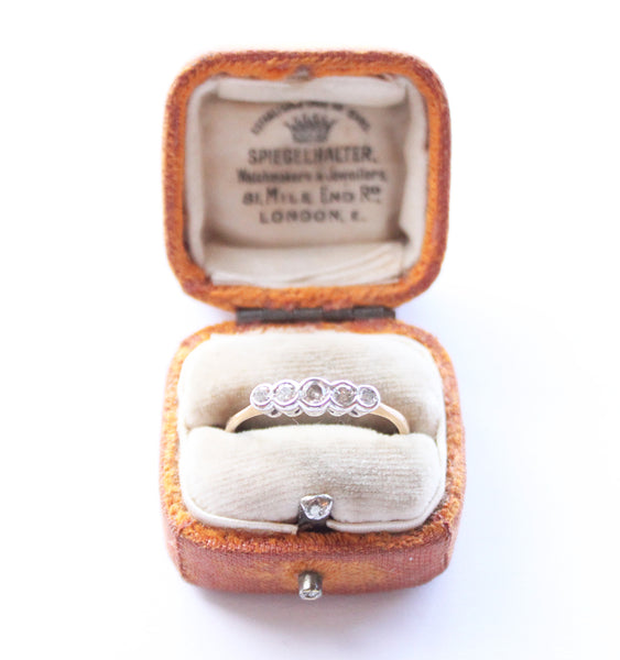 Antique Diamond Bezel Set Ring