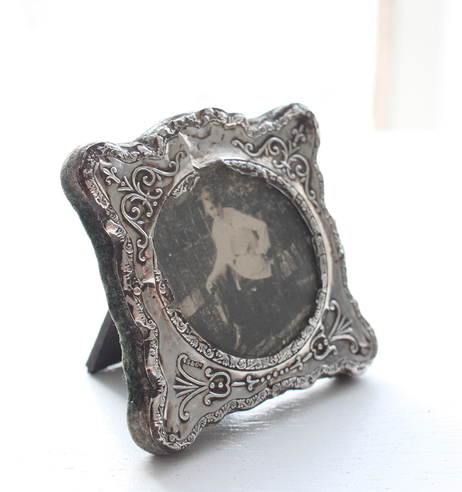 Antique Sterling Silver Picture Frame 1912 Plum Home Design