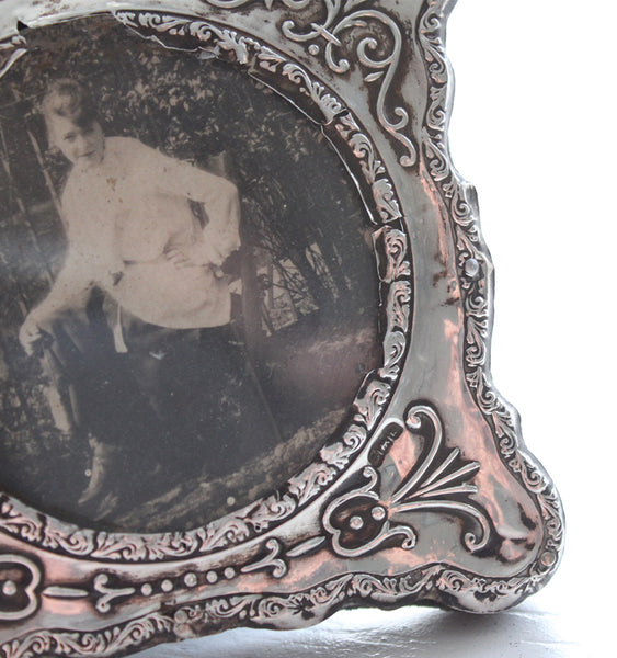Antique Sterling Silver Picture Frame, 1912