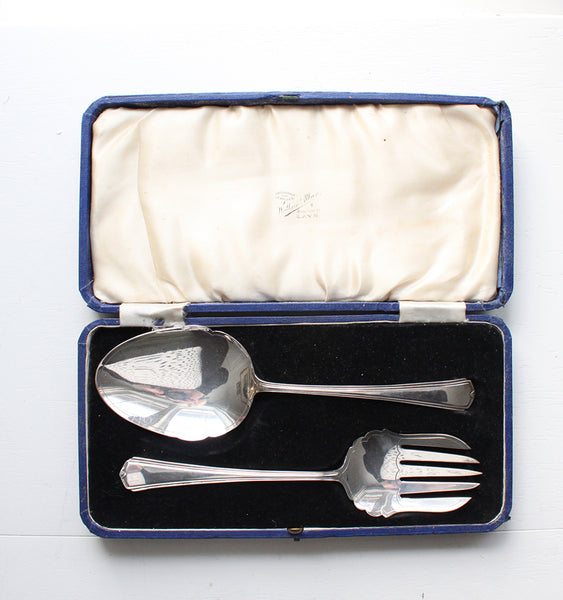 Antique Serving Set, Fork and Spoon