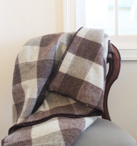 MacAusland Throw Blanket Grey/Brown