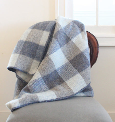 MacAusland Throw Blanket Blue Tweed/Blue Heather