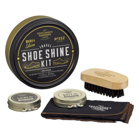 Travel Shoe Shine Kit