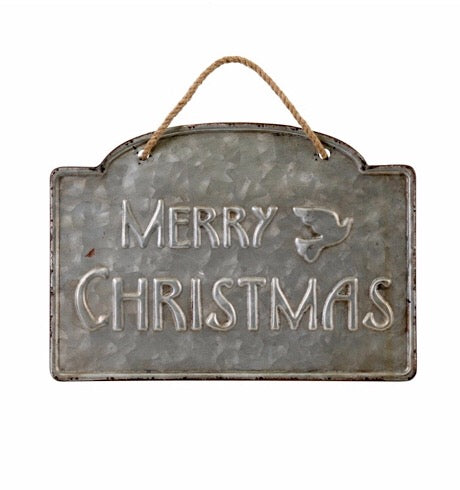 Merry Christmas Sign Ornament