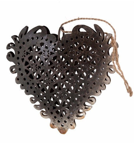 Iron Lace Heart Ornament, 5-9128