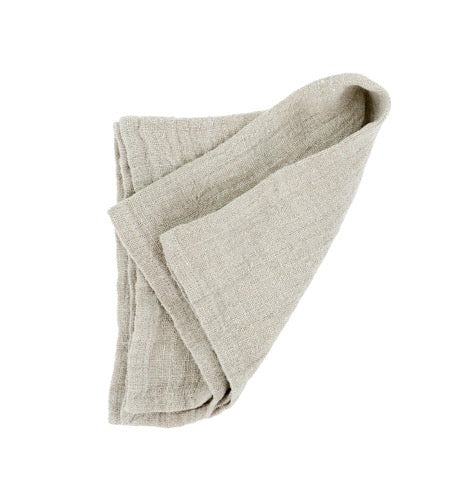 Rustic Linen Napkin Light Grey
