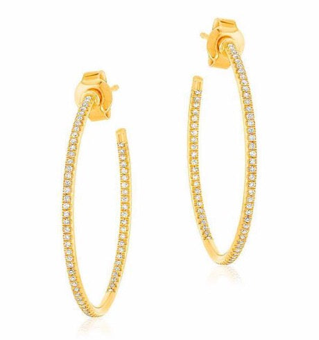 In & Out Hoop Earrings