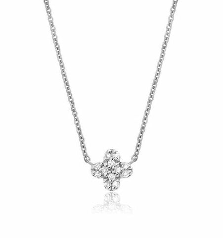 Petite Clover Diamond Necklace