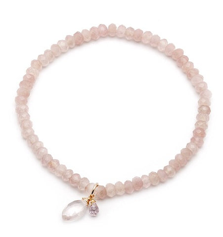 Rose Quartz Mini Social Bracelet