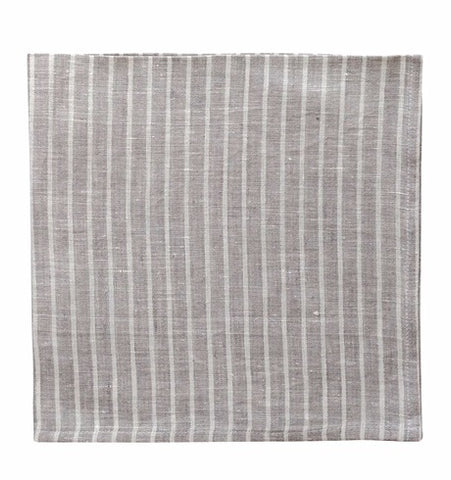 Arman Napkins, Smoke with Ivory Stripes