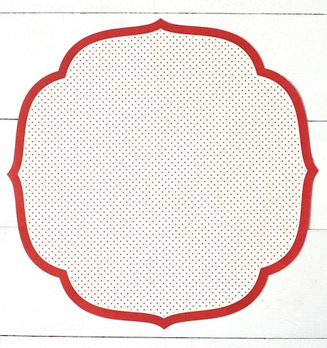 Die-Cut Red Swiss Dot Placemats
