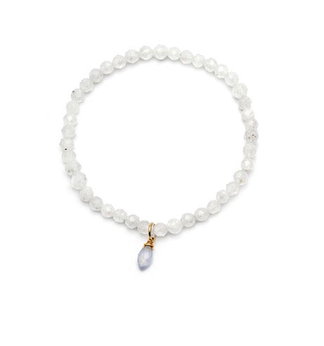 White Quartz Mini Social Bracelet