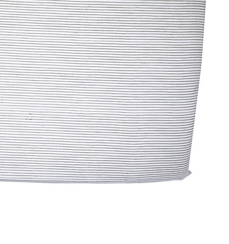 Pencil Stripes Crib Sheet, Grey
