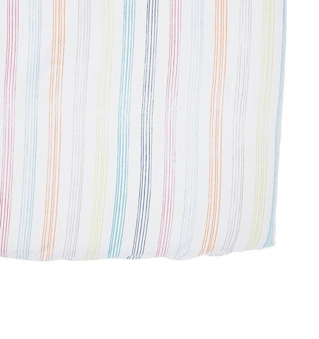 Rainbow Stripe Crib Sheet