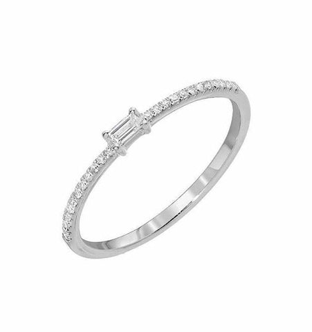 Petite Baguette Diamond Band