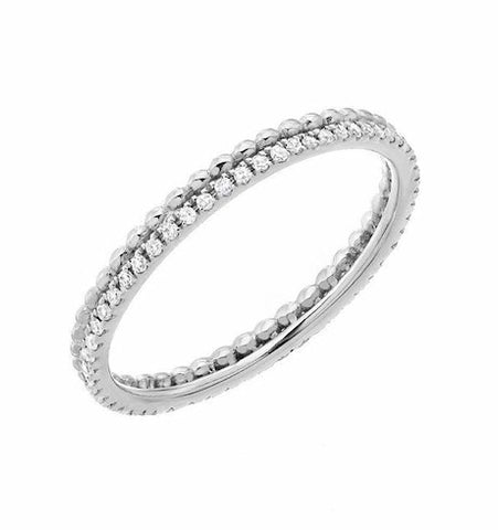 Diamond Eternity Band With Beading