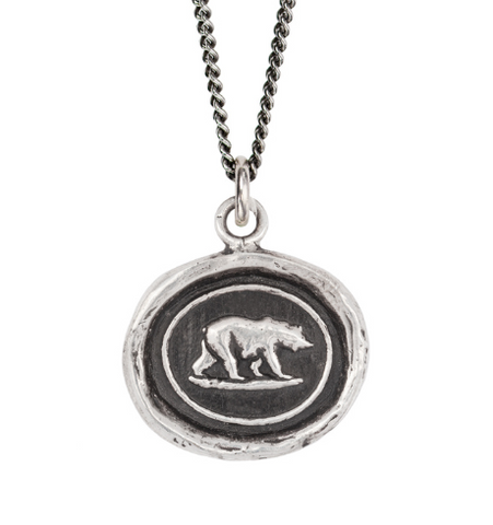 Mother Bear Talisman, Sterling Silver