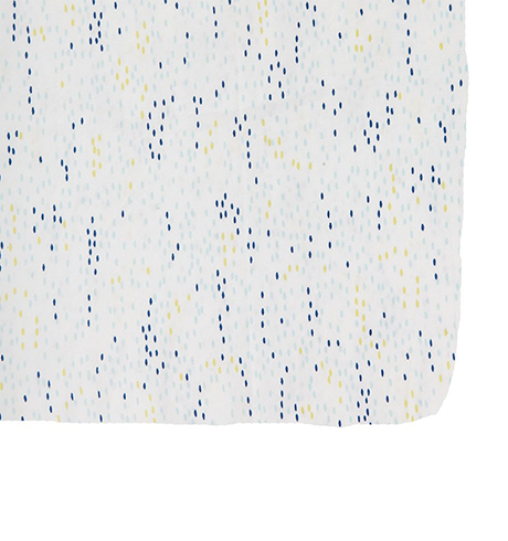 Blue Showers Crib Sheet