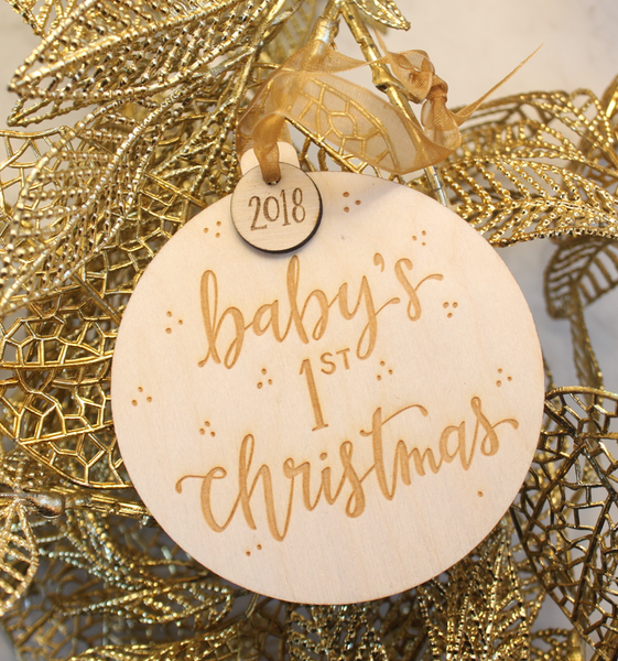 Baby's First Christmas- Wood