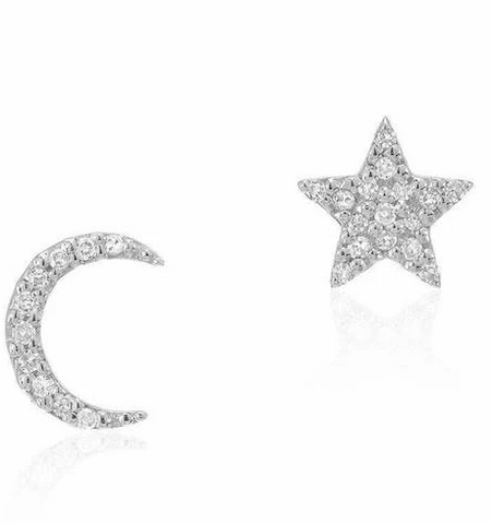 Liven Star Moon Post Earrings