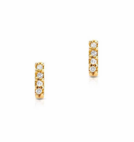Small Diamond Bar Post Earrings