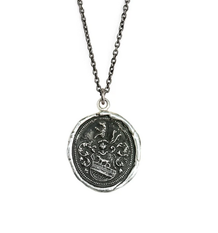 Heart of the Wolf Talisman, Sterling Silver