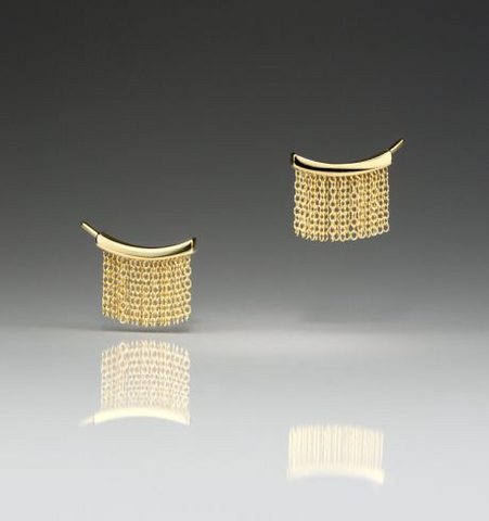 Fringe Small Gold Ear Climbers
