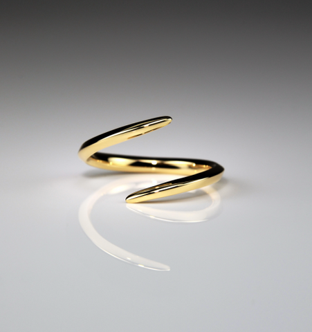 Iris Small Yellow Gold Wrap Ring
