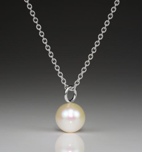 Pearl Large Silver Pendant