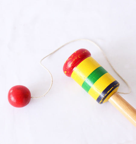 Vintage Wooden Catch Ball